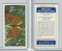 B0-0 Brooke Bond, British Butterflies, 1963, #15 Silver Washed Fritillary