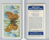 B0-0 Brooke Bond, British Butterflies, 1963, #16 Marsh Fritillary
