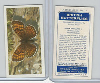 B0-0 Brooke Bond, British Butterflies, 1963, #17 Heath Fritillary