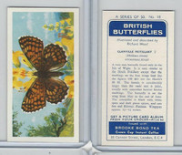 B0-0 Brooke Bond, British Butterflies, 1963, #18 Glanville Fritillary