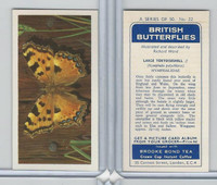 B0-0 Brooke Bond, British Butterflies, 1963, #22 Large Tortoisshell