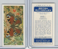 B0-0 Brooke Bond, British Butterflies, 1963, #23 Peacock