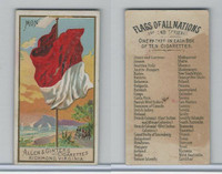 N10 Allen & Ginter, Flags of all Nations, 1890, Monaco
