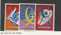 Aitutaki, Postage Stamp, #312-314 Mint Nh, 1983 Space