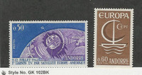 Andorra, French, Postage Stamp, #154, 172 Mint LH, 1962-66 Space
