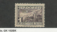 Andorra, Spanish, Postage Stamp, #C1 Mint LH, 1951 Airmail