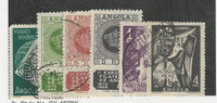 Angola, Postage Stamp, #327-332 Used, 1949-50, Portugal Colony