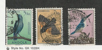 Angola, Postage Stamp, #346, 348, 349 Used Birds, 1951 Portugal Colony