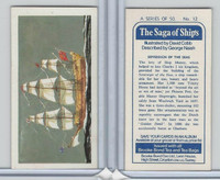 B0-0 Brooke Bond Tea, Saga Of Ships, 1970, #12 Sovereign Of The Seas