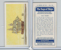 B0-0 Brooke Bond Tea, Saga Of Ships, 1970, #18 HMS Victory