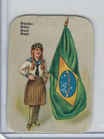 Z0-0 Card, Flags & Costumes of Nations, Brazil