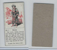 T0-0 Typhoo Tea, Costumes of the World, 1955, #1 Burma