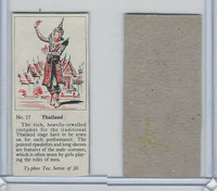 T0-0 Typhoo Tea, Costumes of the World, 1955, #17 Thailand