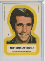 1976 Topps, Happy Days Sticker, #3 The King of Cool