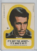 1976 Topps, Happy Days Sticker, #10 It's Not The Jacket