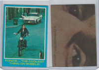 1976 Topps, Happy Days, #11 Fonzie, The Coolest Thing On Wheels