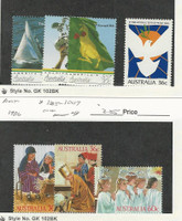 Australia, Postage Stamp, #1001-4, 1005-7 Mint NH, 1986 Christmas, Sailing