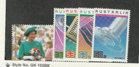 Australia, Postage Stamp, #1023, 1036-1039 Mint NH, 1987 Technology