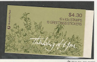 Australia, Postage Stamp, #1193a Mint NH Booklet, 1990 Greetings Flowers