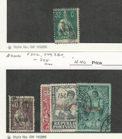 Azores, Postage Stamp, #199, 202, 244, 250, 255 Used, 1925 Portugal Colony