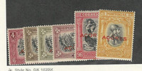 Azores, Postage Stamp, #286-7, 293, 296-7, 299 Mint Hinged, 1928 Portugal