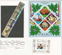 Anguilla, British, Postage Stamp, #348b, 270a, 447 Mint NH Sheet & Strip, 1979