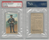 T81 Recruit, Military, 1908, Captain Navy Germany, PSA 4 VGEX