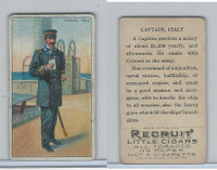 T81 Recruit, Military, 1908, Captain Italy