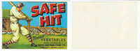 1940's Gulf Distributing, Safe Hit Vegetables, Baseball Stadium Weslaco, 5X7 WMX