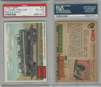 1955 Topps, Rails & Sails, #13 3-Dome Tank Car, PSA 6 EXMT