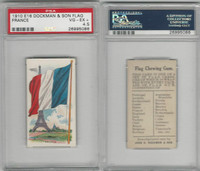 E16 Dockman & Son, Flag Chewing Gum, 1920's, France, PSA 4.5 VGEX+