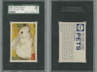 1960's Shell Oil, Pets Picture Cards, #486 White Rabbit, SGC 96 Mint