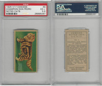 V17 Cowan's, Noted Cats, 1925, #9 Champion Don Pedro, PSA 5.5 EX+