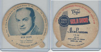 F5-18 Dixie Cup, 1952, Movie Stars, Large, Bob Hope, Gold Bond Ice Cream