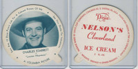 F5-18 Dixie Cup, 1952, Movie Stars, Large, Charles Starrett, Nelson's Ice Cream