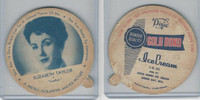 F5-18 Dixie Cup, 1952, Movie Stars, Large, Elizabeth Taylor, Gold Bond Ice Cream