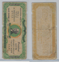 R118 Dietz, Presidents Play Bucks, 1937, Thomas Jefferson, $20