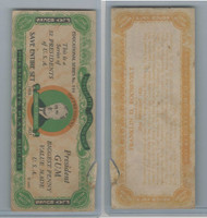 R118 Dietz, Presidents Play Bucks, 1937, Franklin Roosevelt, One Million