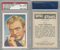 1959 Kane Products, Disc Stars, #3 David Whitfield, PSA 8 NMMT