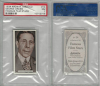 A72-23 Ardath, Famous Film Stars, 1934, #14 George Arliss, PSA 7 NM (Crack Case)