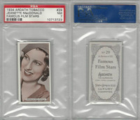 A72-23 Ardath, Famous Film Stars, 1934, #29 Jeanette MacDonald, PSA 7 NM
