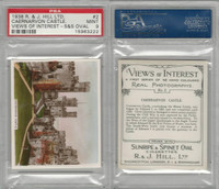 H46-96 Hill, Views of Interest, 1938, #2 Caernarvon Castle, PSA 9 Mint