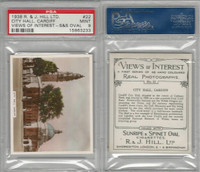 H46-96 Hill, Views of Interest, 1938, #22 City Hall, Cardiff, PSA 9 Mint
