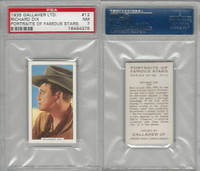 G12-93 Gallaher, Portraits Famous Stars, 1935, #12 Richard Dix, PSA 7 NM