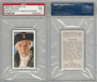G12-93 Gallaher, Portraits Famous Stars, 1935, #22 Otto Kruger, PSA 7 NM
