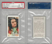 G12-93 Gallaher, Portraits Famous Stars, 1935, #24 Tom Walls, PSA 6 EXMT