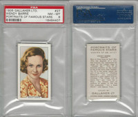 G12-93 Gallaher, Portraits Famous Stars, 1935, #27 Wendy Barrie, PSA 8 NMMT