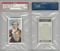 O2-123 Ogdens, Actors Natural & C. Studies, 1938, #1 George Arliss, PSA 7 NM