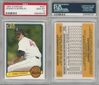 1983 Donruss Baseball, #487 Dennis Eckersley HOF, Red Sox, PSA 10 Gem