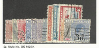 Bahamas, British, Postage Stamp, #102//115 (13 Different) Used, 1938-46